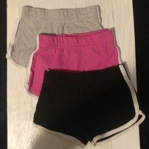 3 pack Girls shorts 3t